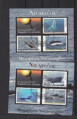 T11932 Tonga Niuafo´ou Block 41-42 gest./used Wale whales