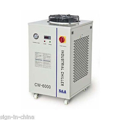 110V 60HZ CW-6000DI Industrial Water Chiller for 1x CO2 100W RF Metal Laser Tube