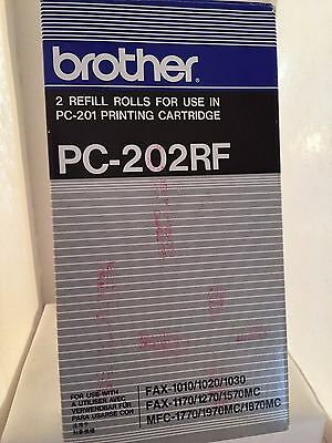 Brand New Brother PC-202RF Thermal Transfer Fax Print Cartridge Refill 2 Rolls