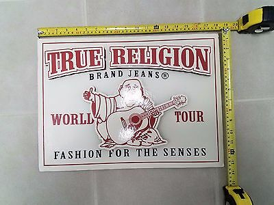 True Religion Brand Jeans World Tour Store Display Advertising Sign Board