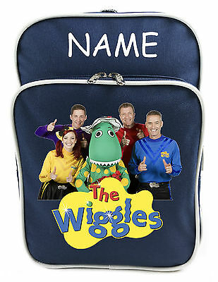 Littlies Kids Children Boys Navy The Wiggles School Backpack Bag With Name