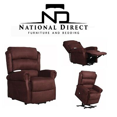 DUAL MOTOR Electric Lift Recliner Chair Battery Back Up FREE LOCAL DELIVERY