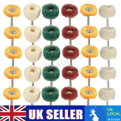 30Pcs Polishing Mop Buffing Wheel Polish Pad Polishers For Dremel Drill Bit