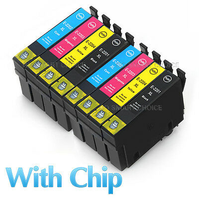 8x Ink Cartridges 220XL for Epson Printer XP420 workforce WF2630 WF-2650 NON-OEM