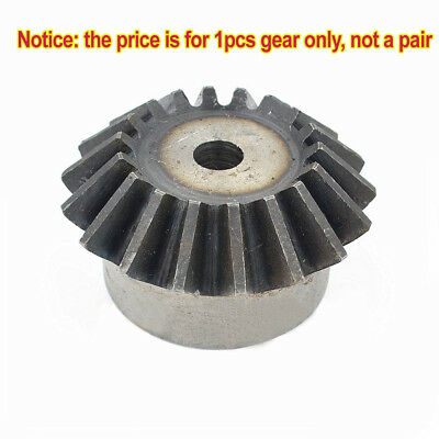Motor Bevel Gear 1.0 Mod 15/16/18/20/24T 90° 1:1 Pairing Metal Bevel Gear x 1Pcs
