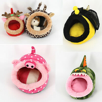 Portable Washable Puppy Pet Dog Nest Hamster Guinea Pig Bed Tent Warm Cave House
