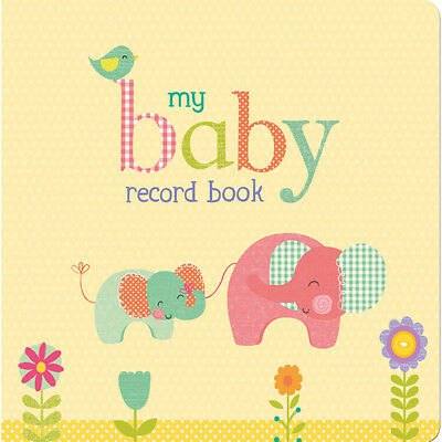 My Baby Record Book Yellow with Elephants