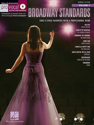 Broadway Standards - Pro Vocal Women's Edition Volume 9 - Vocal Music Book & CD
