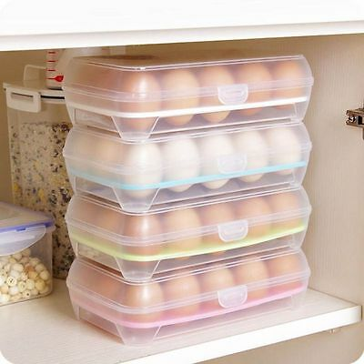 AU 15 Eggs Holder Case Refrigerator Eggs Storage Box Food Container Preservation