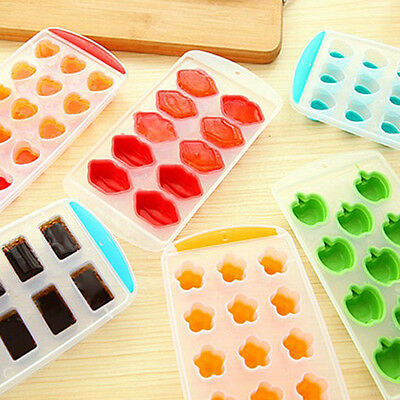 Easy Pop Out Ice Shape Cube Tray Jelly Chocolate Pudding Maker Silicone Mould