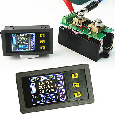VAC1100A Voltmeter/Ammeter/Power Meter/Capacity Coulomb Counter DC 120V 100A LCD