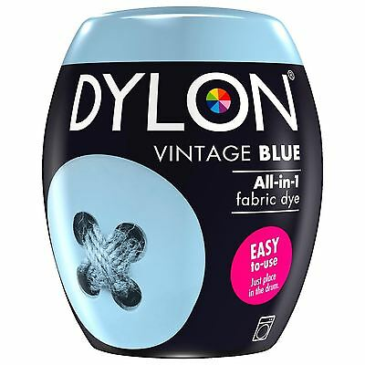 Dylon Machine Dye Pod Fabric Clothes All in One - Vintage Blue 350g