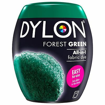Dylon Machine Dye Pod Fabric Clothes All in One - Forest Green 350g