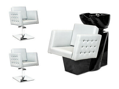 SALON HAIRDRESSING STYLING FURNITURE SETS Backwash  Styling Chairs CRYSTAL NEW