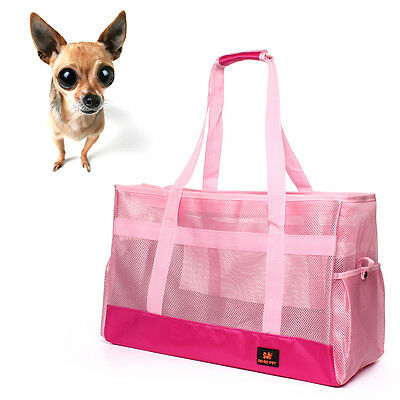 Pet Dog Cat Breathable Carrier Soft Sided Carriers Tote Bag Puppy Travel Handbag
