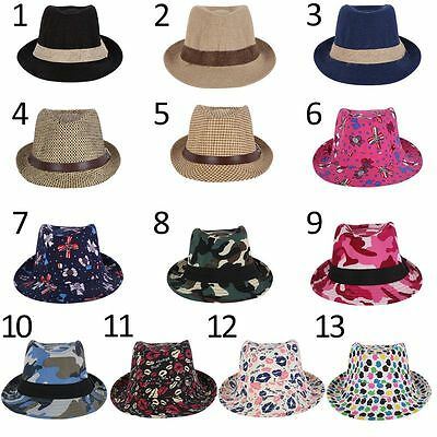 Fashion Toddler Boy Jazz Cap Kids Baby Girl Cotton Straw Unisex Hat Multi-Color