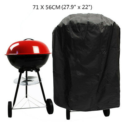Heavy Duty Large Round Bbq Cover Outdoor Waterproof Barbecue Grill Gas Protector