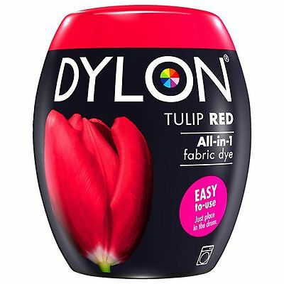 Dylon Machine Dye Pod Fabric Clothes All in One - Tulip Red 350g