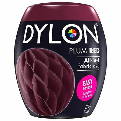 Dylon Machine Dye Pod Fabric Clothes All in One - Plum Red 350g