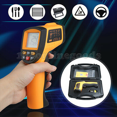 Portable Digital Infrared Thermometer IR Non-Contact Temperature Gun Laser 750℃