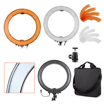 "LED Ring Light 18"" - 65w Dimmable Output - 3200k-5500k Filters - Photo Video"