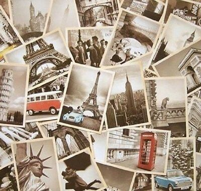 32 PCS 1 Set Vintage Retro Old Travel Postcards for Worth Collecting -free ship