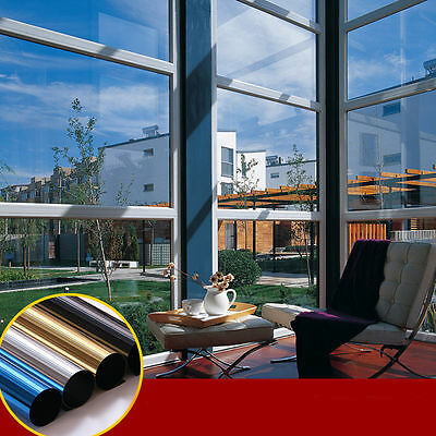 Mirror Solar Window Glass Sticker Tint Film Foil Anti-UV Privacy Protection Home