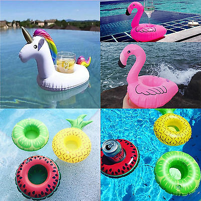 4PCS Inflatable Floating Drink Can Cup Holder Hot Tub Swimming Pool Beach Party