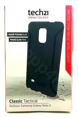 Genuine Tech21 Classic Tactical Flex Shockproof Case For Galaxy Note 4 Black NEW