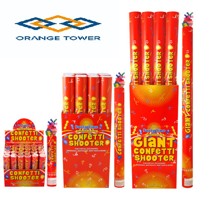 6X 80cm PREMIUM White Tissue Confetti Cannons Large Party Poppers