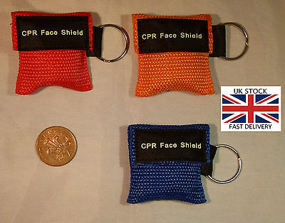 Portable CPR Resuscitator shield mask - Key chain size - UK Stock - BRAND NEW