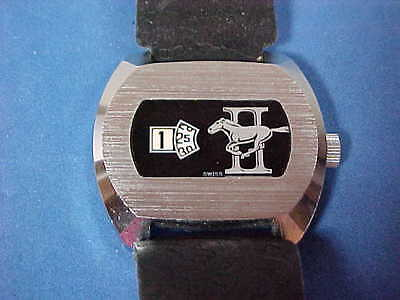 FORD MUSTANG II Wristwatch 70's SWISS MADE works original band