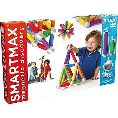 SMARTMAX - 42 Piece Basic Set - Magnetic Discovery Toy by Smart Games  NEW!!
