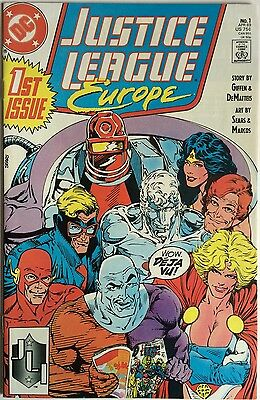 Justice League Europe # 1 / Giffen/dematteis/sears / Dc Comics / Apr 1989 / N/m