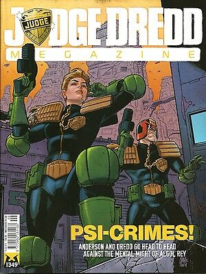 JUDGE DREDD MEGAZINE # 349 / 15th JUL 2014 / REBELLION / UK EXCLUSIVE / 2000AD
