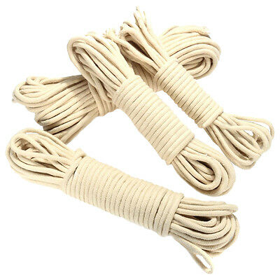 20M Multi-function Traditional Washing Clothes Pulley Line Rope Dia. 4mm Y6E4