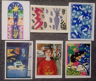 Lot Of 6 Postcards Of Impressionist Paintings By Henri Matisse