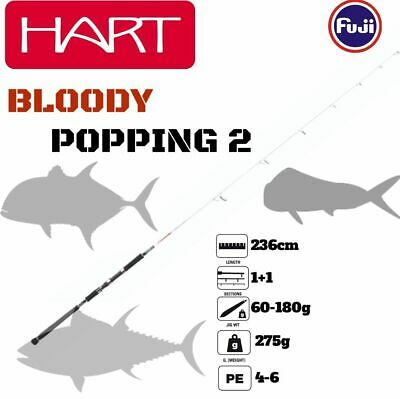 Hart Offshore Pelagic Spinning Rod Bloody Popping 2