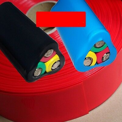 18650 Battery 3 Sections Pack Sleeve PVC Heat Shrink Tubing Wraps Φ38 Width 60mm
