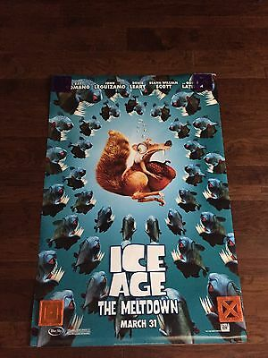 Original Ice Age,The Melt Down (2006 )One Sheet Double Sided Theater Movie Poste