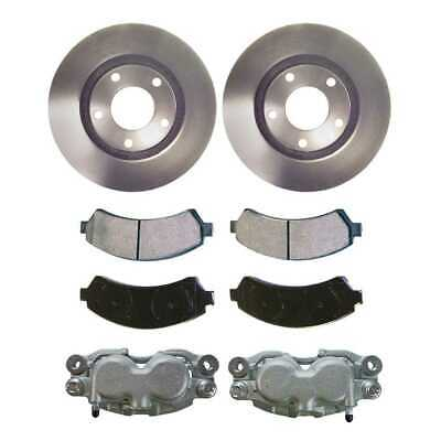 New Front 2 Brake Calipers & 2 Rotors & Ceramic Pads fits Chevy GMC Isuzu Olds