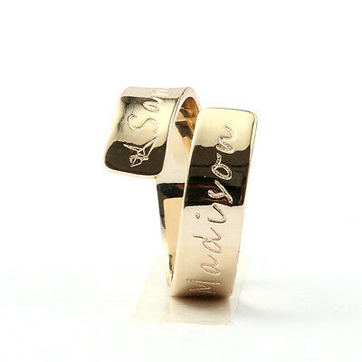 Custom Name Ring Personalized Letter Ring Gift for Her | Custom Made Jewelry