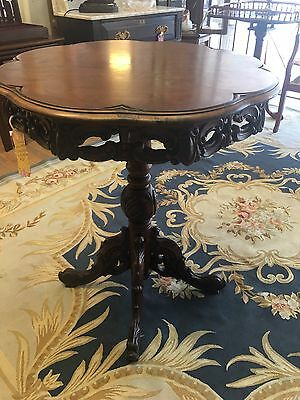 Magnificent Hand Carved Antique Victorian Accent Table