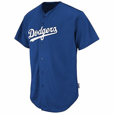 Majestic Adult MLB Cool Base Pro Style Game L.A. Dodgers Jersey, Royal
