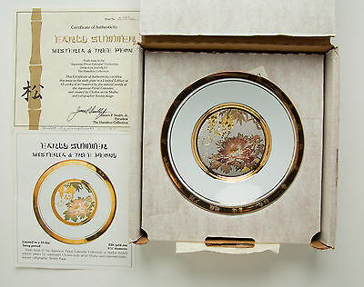 Hamilton Collection Plate Early Summer Wisteria and Tree Peony