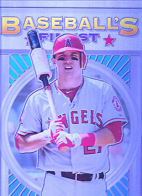 """2015 Mike Trout Finest Metal Angels #21/25-10x14"""" Wall Art-FREE SHIPPING!"""