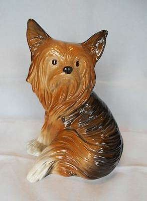 Vintage Large Ceramic Yorkie Yorkshire Silky Terrier England Dog Mint