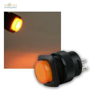 Press Button with LED-Lighting Orange Max 1A/250V, Switch Illuminated Switch