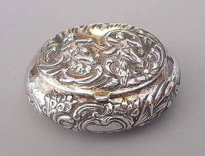 Antique solid silver (830 grade) snuff box, Germany, post-1888