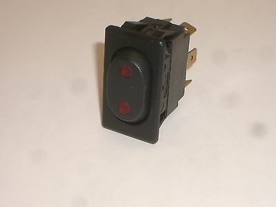 NET McGILL 0862-2312 DPDT ON-OFF-ON SNAP-IN ROCKER SWITCH 15A 125VAC 3/4HP